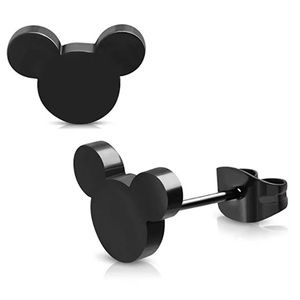 Black Mickey Mouse Earring Studs